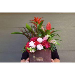 Ghiveci 3 plante si flori taiate